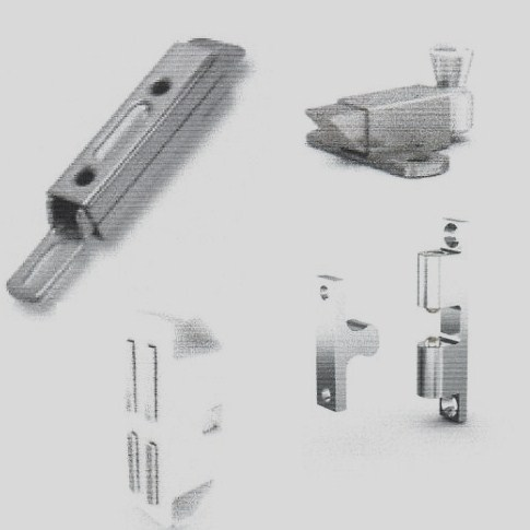 Spring loaded latches, magnetic catches